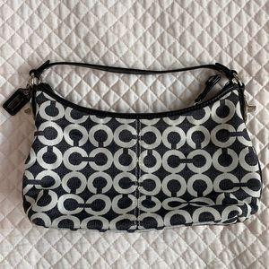 COACH Black and White Signature Print Handbag